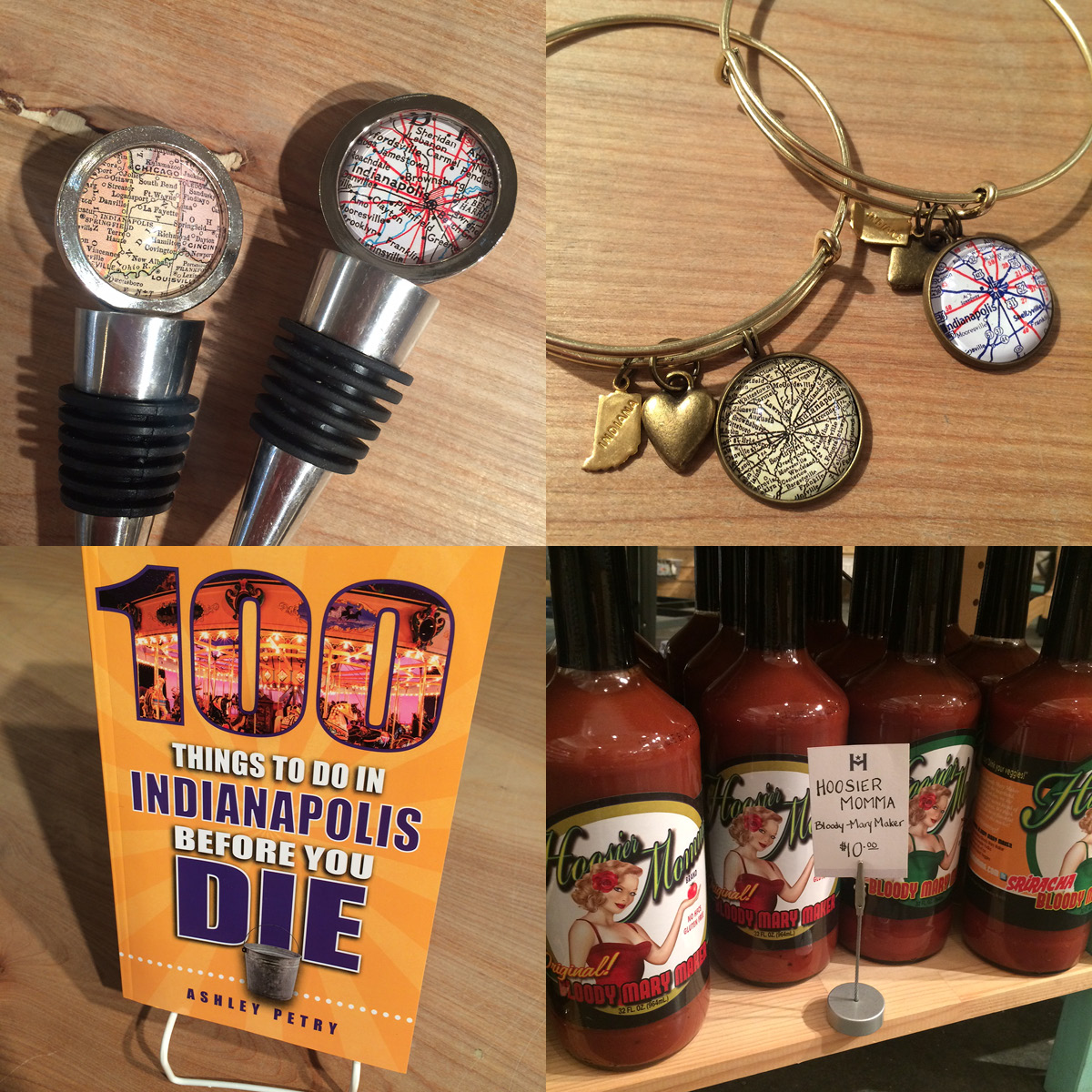 ... wine stoppers and bracelets. We have Evansville and Bloomington, too!  Restock of 100 Things to do in Indianapolis Before You Die by Ashley Petry  and ...