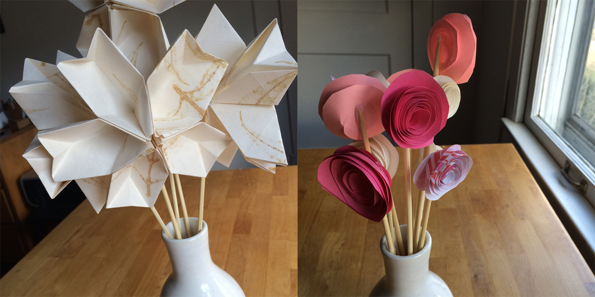 How To Valentines Day Paper Flowers