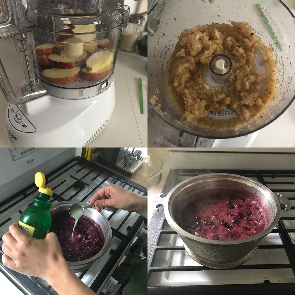 ingredients, homemade jam, concord grape jam