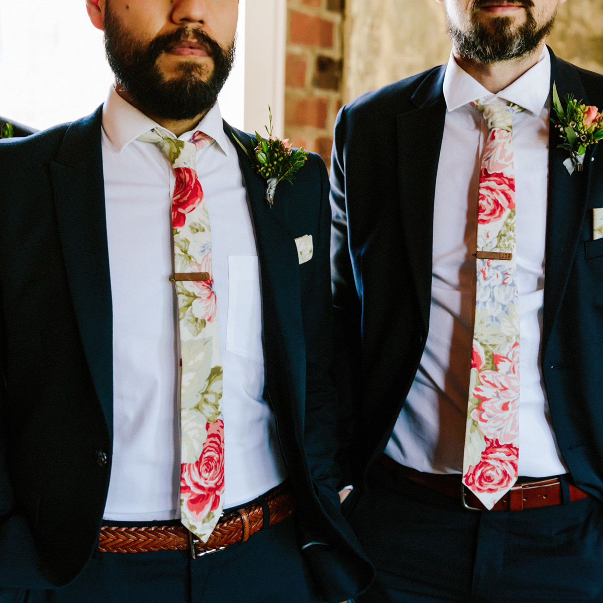 groomesmen, tie, tie bar, suits, wedding