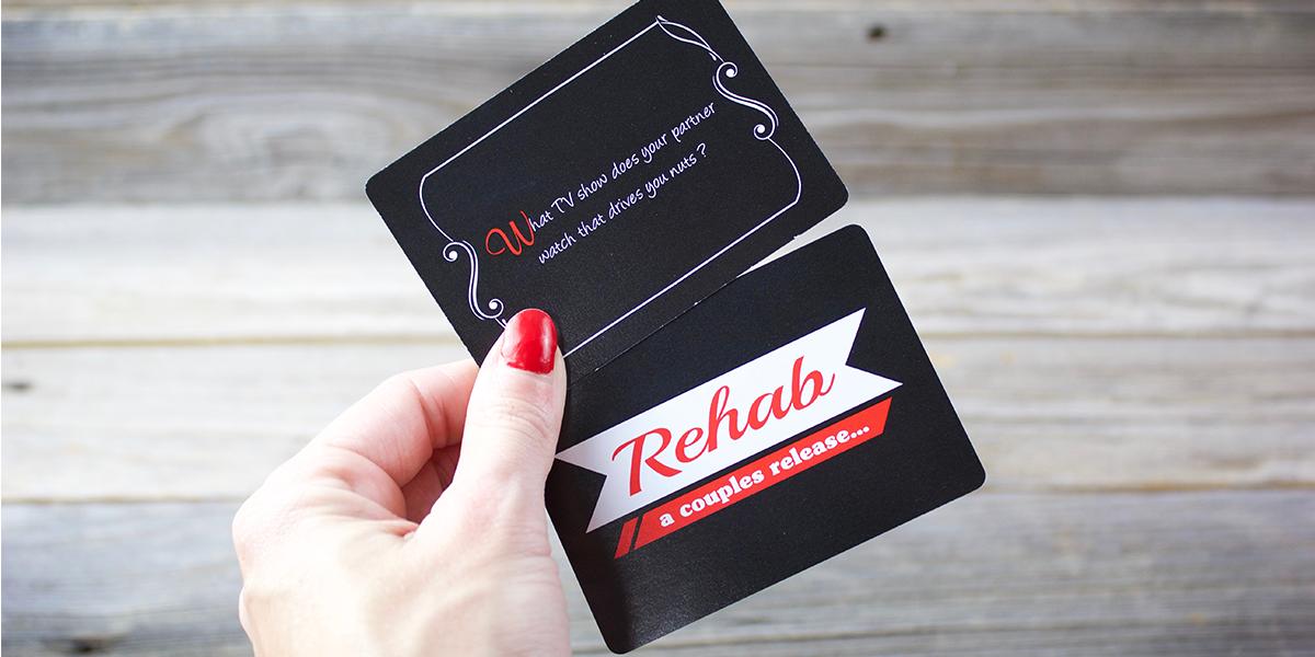game, card game, rehab, questions, fun