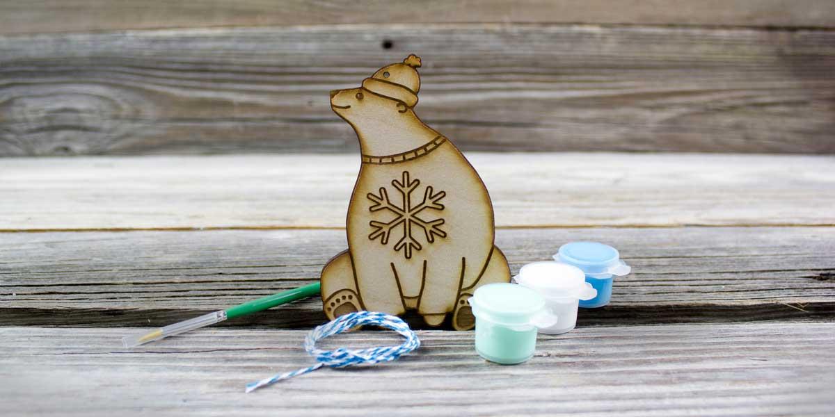 polar bear, paint, DIY, ornament, snow, decorate