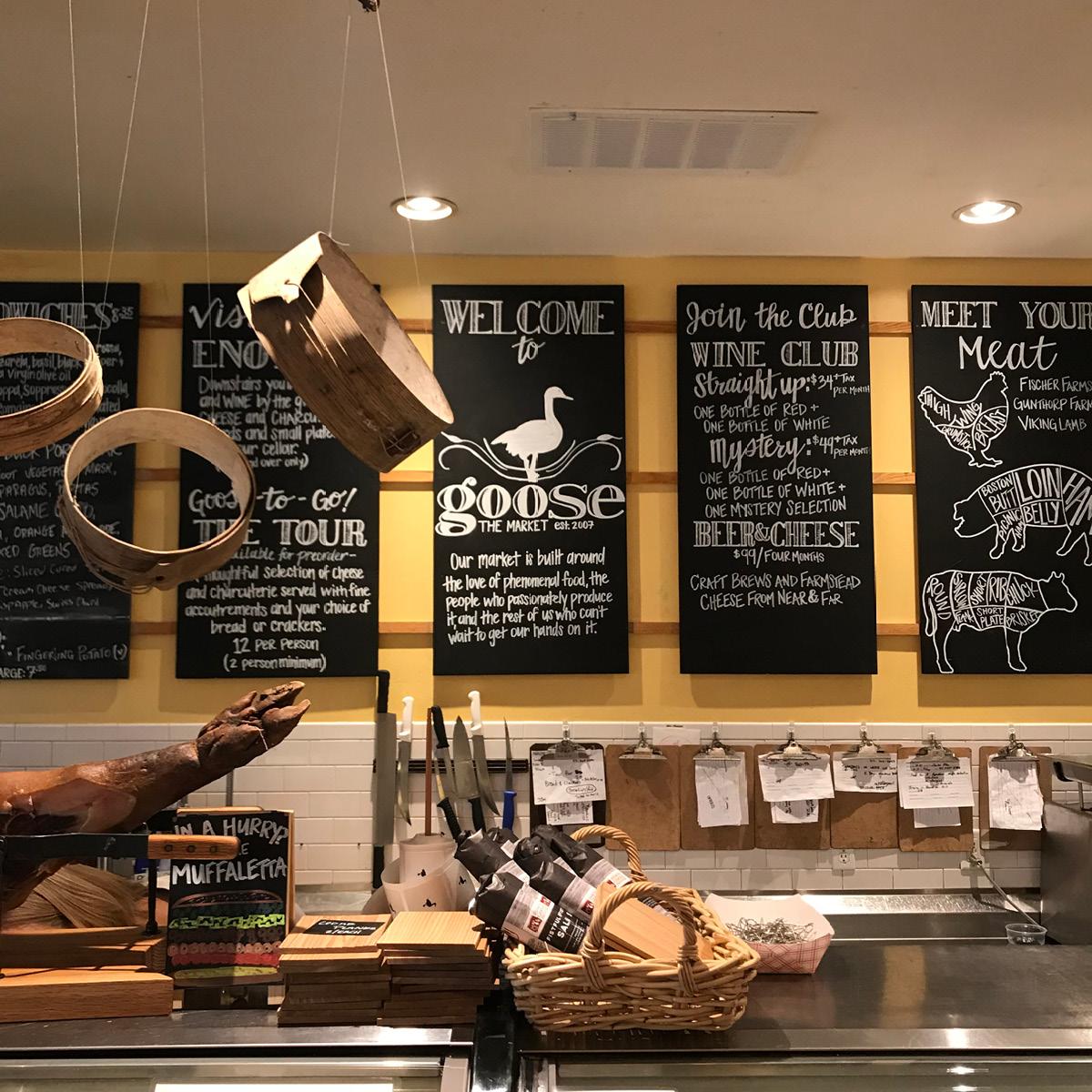 goose, goose the market, ham hock, market, deli, boards, menu