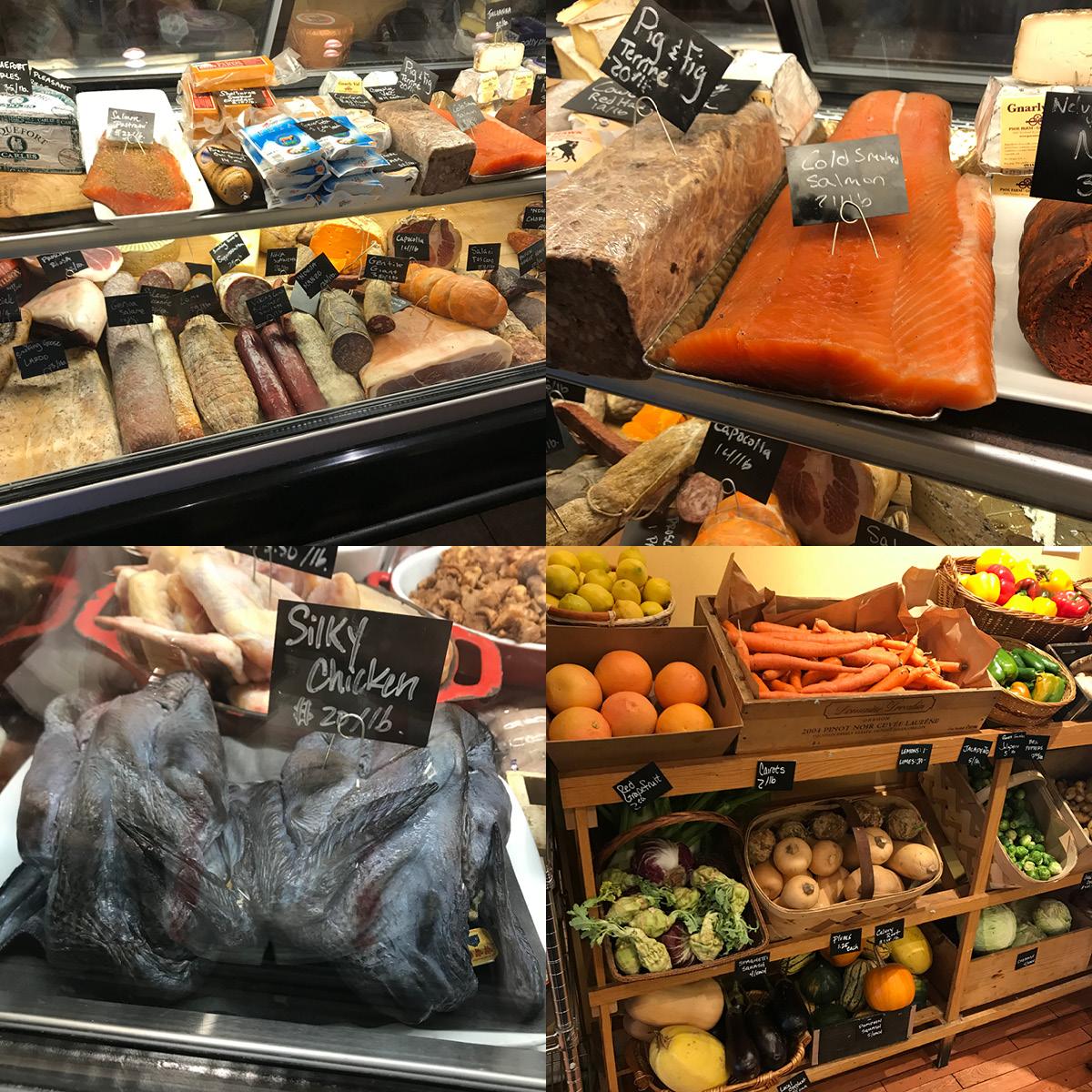 deli case, silky chicken, produce, local, smoked, salmon