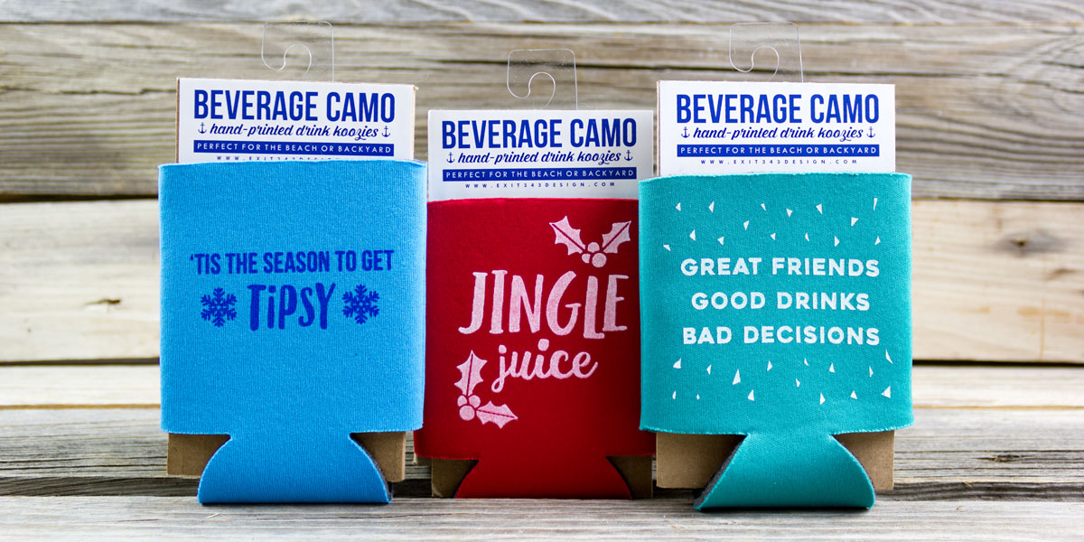 koozie, coozie, drink, can, beverageg camo, holiday