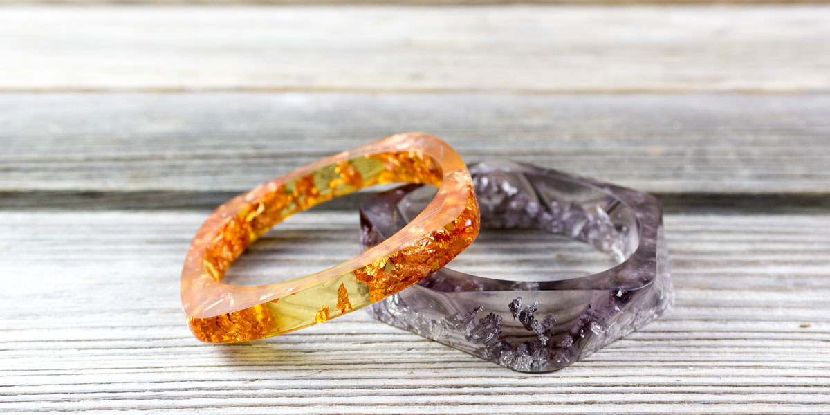 resin, metal, orange, purple, bracelet, jewelry