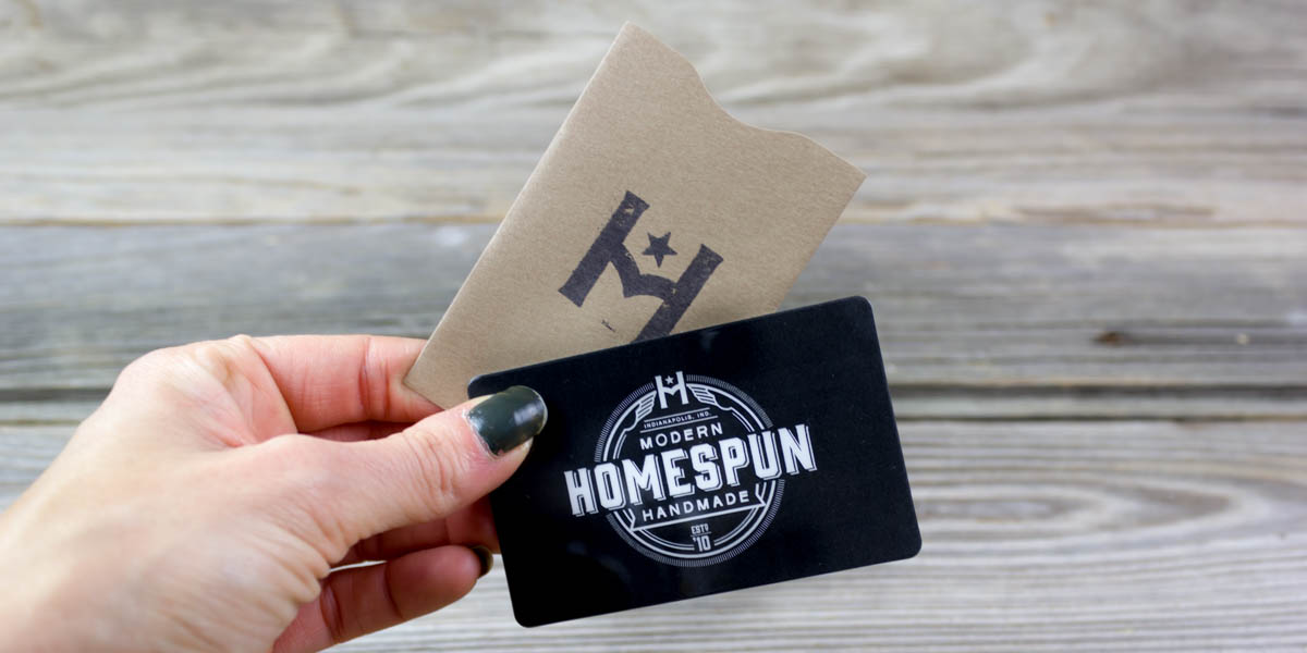 gift card, homespun, shop local, last minute