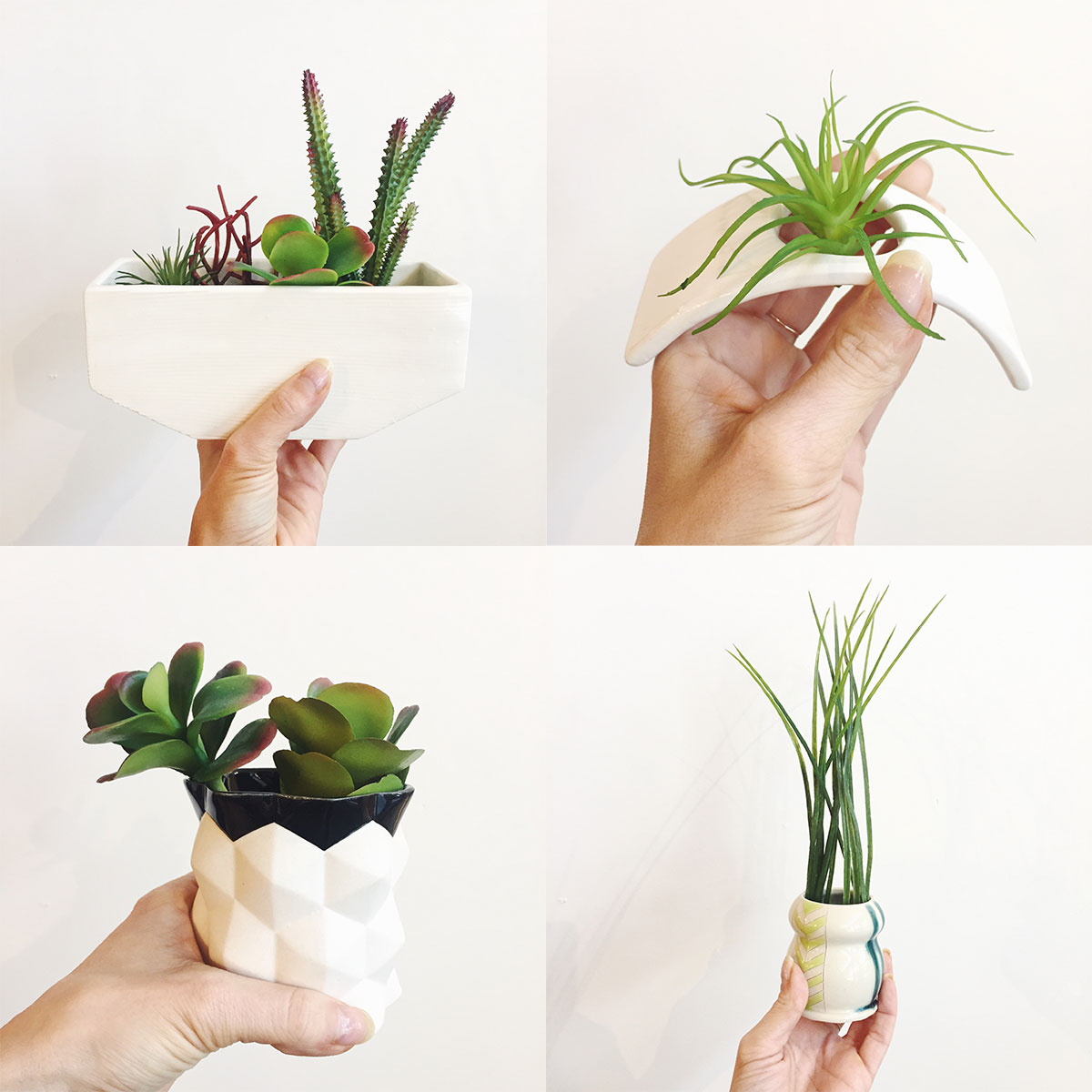 Ceramic planters at Homespun: Modern Handmade
