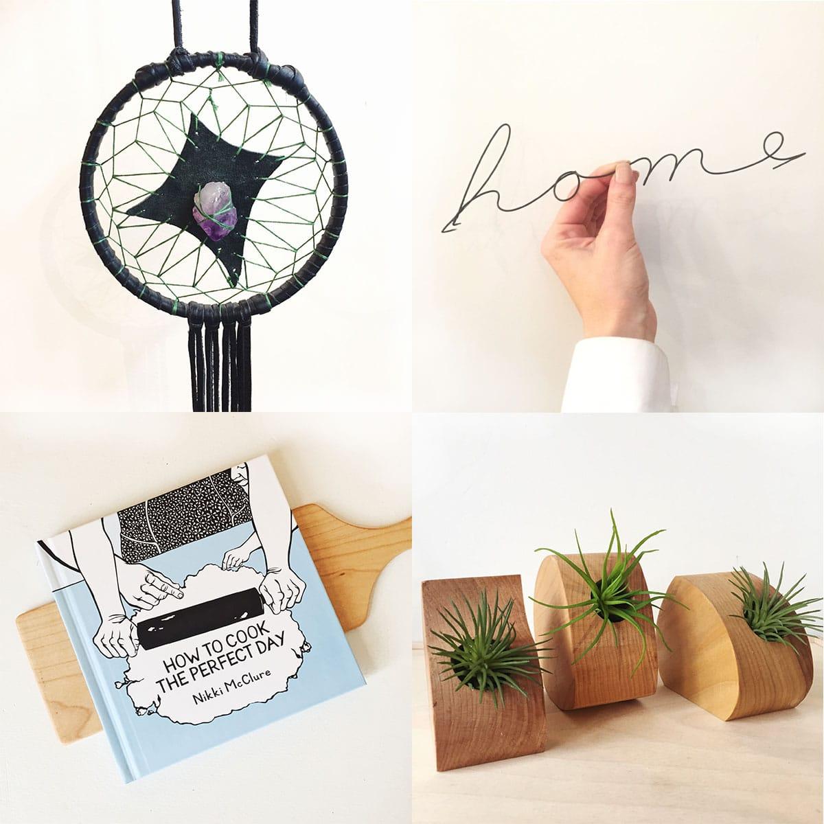 Handmade accessories for the home at Homespun: Modern Handmade