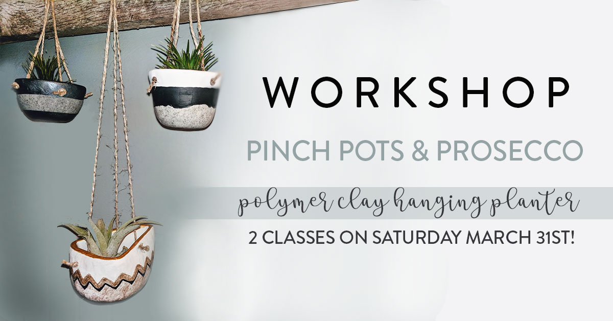 Pinch Pots & Prosecco Workshop: Session Two: 4:30pm - 7pm at Homespun