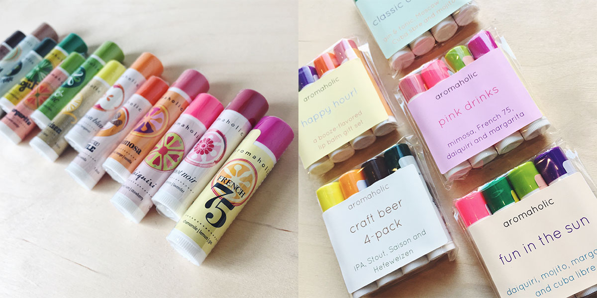 ICYMI April 20 booze flavored lip balms from Aromaholic at Homespun