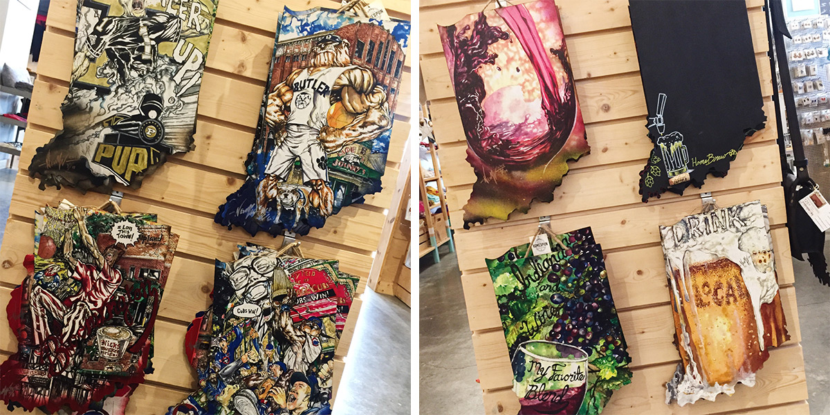 ICYMI June 1 Shop Indiana hand-painted wall hangings at Homespun: Modern Handmade
