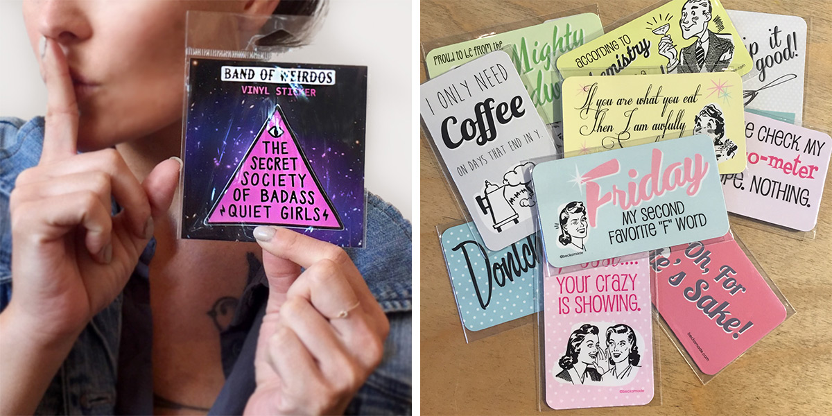 ICYMI June 1 Fun stickers and magnets for boss babes at Homespun: Modern Handmade