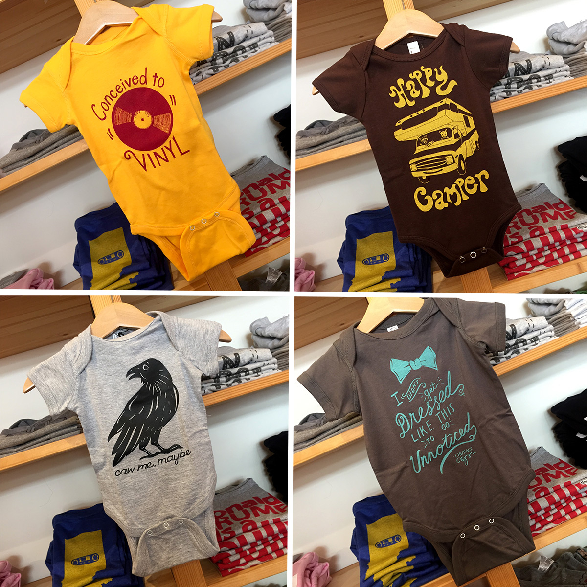 ICYMI June 1 Shop baby onesies at Homespun: Modern Handmade