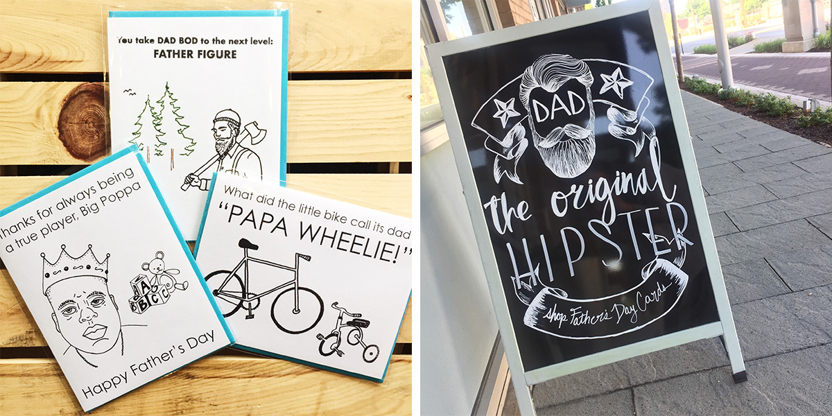 ICYMI June 1 Father's Day Cards available at Homespun: Modern Handmade