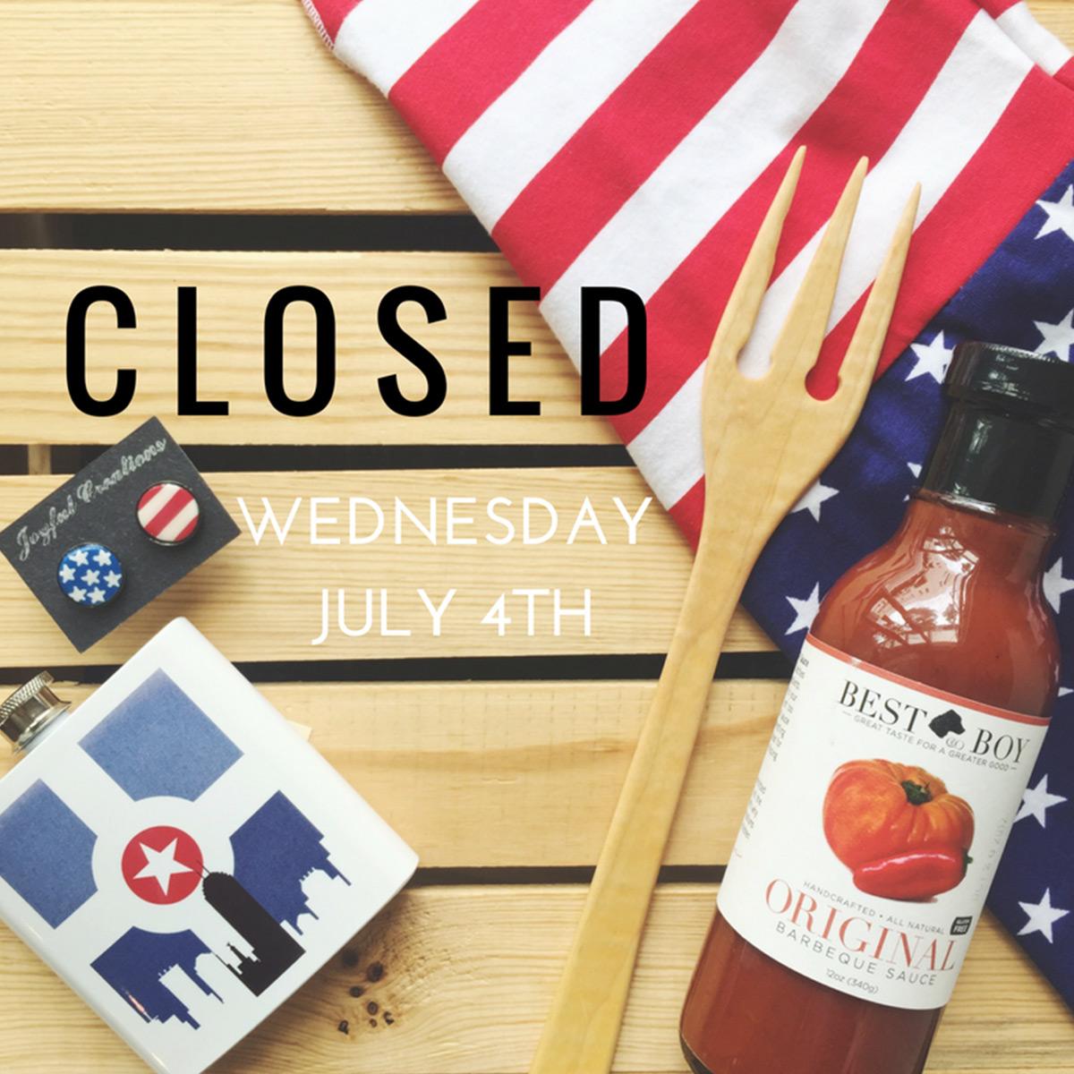 ICYMI June 29 Homespun closed July 4