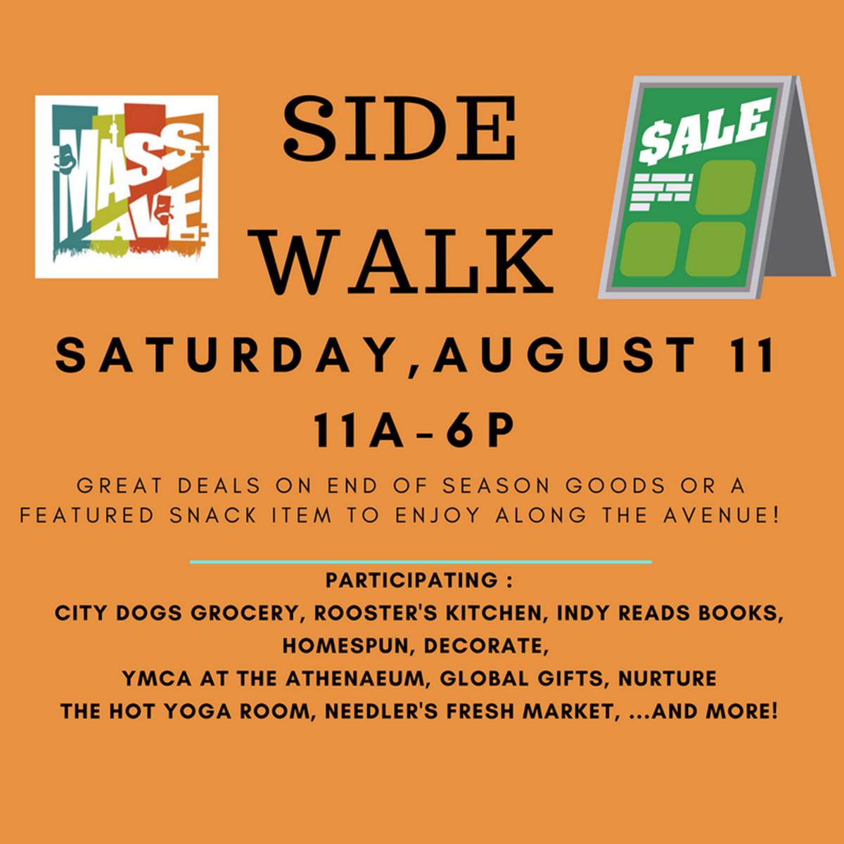 ICYMI July 27 Mass Ave Sidewalk Sale Saturday August 11