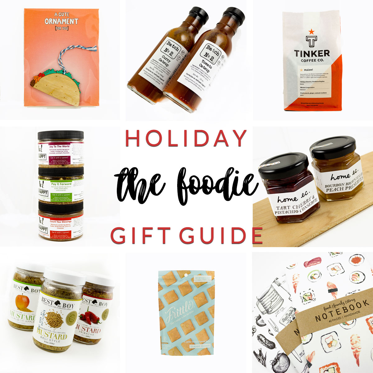 the foodie holiday gift guide at Homespun Indianapolis