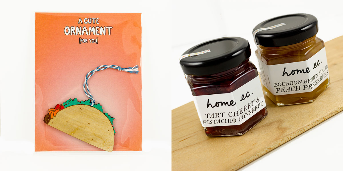 the foodie gift guide at Homespun Indianapolis taco ornament