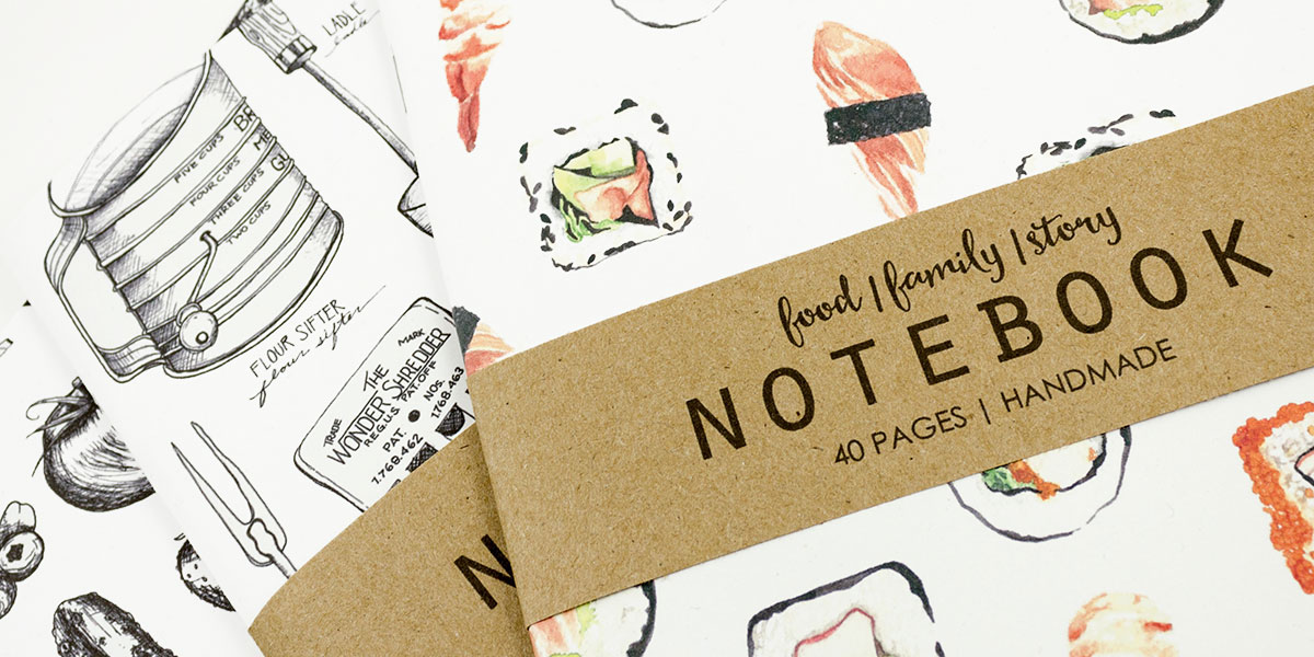 the foodie holiday gift guide at Homespun Indianapolis food notebooks