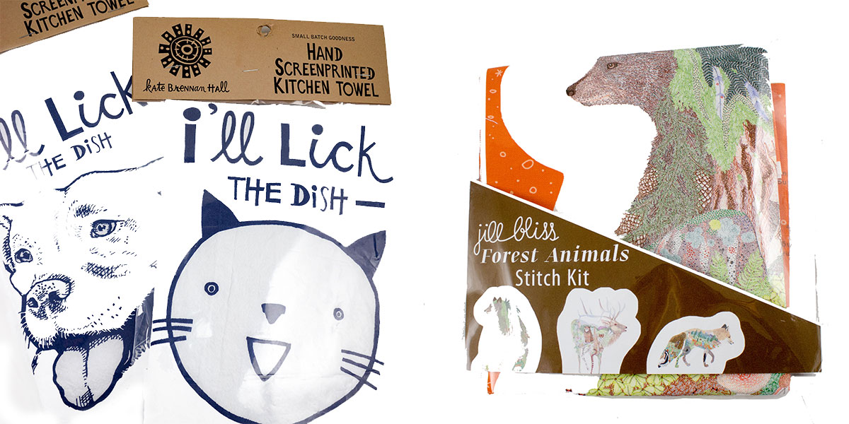 The Animal Lover Holiday Gift Guide at Homespun Animal Tea Towels