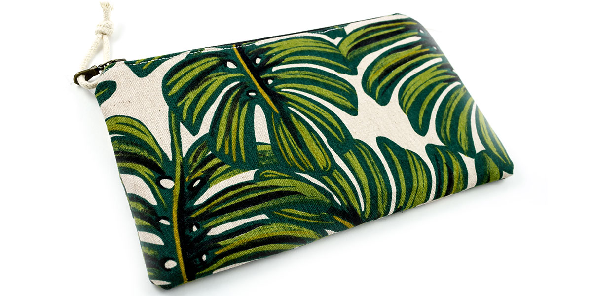 Stylish Sister Holiday Gift Guide at Homespun Monstera Leaf Pouch