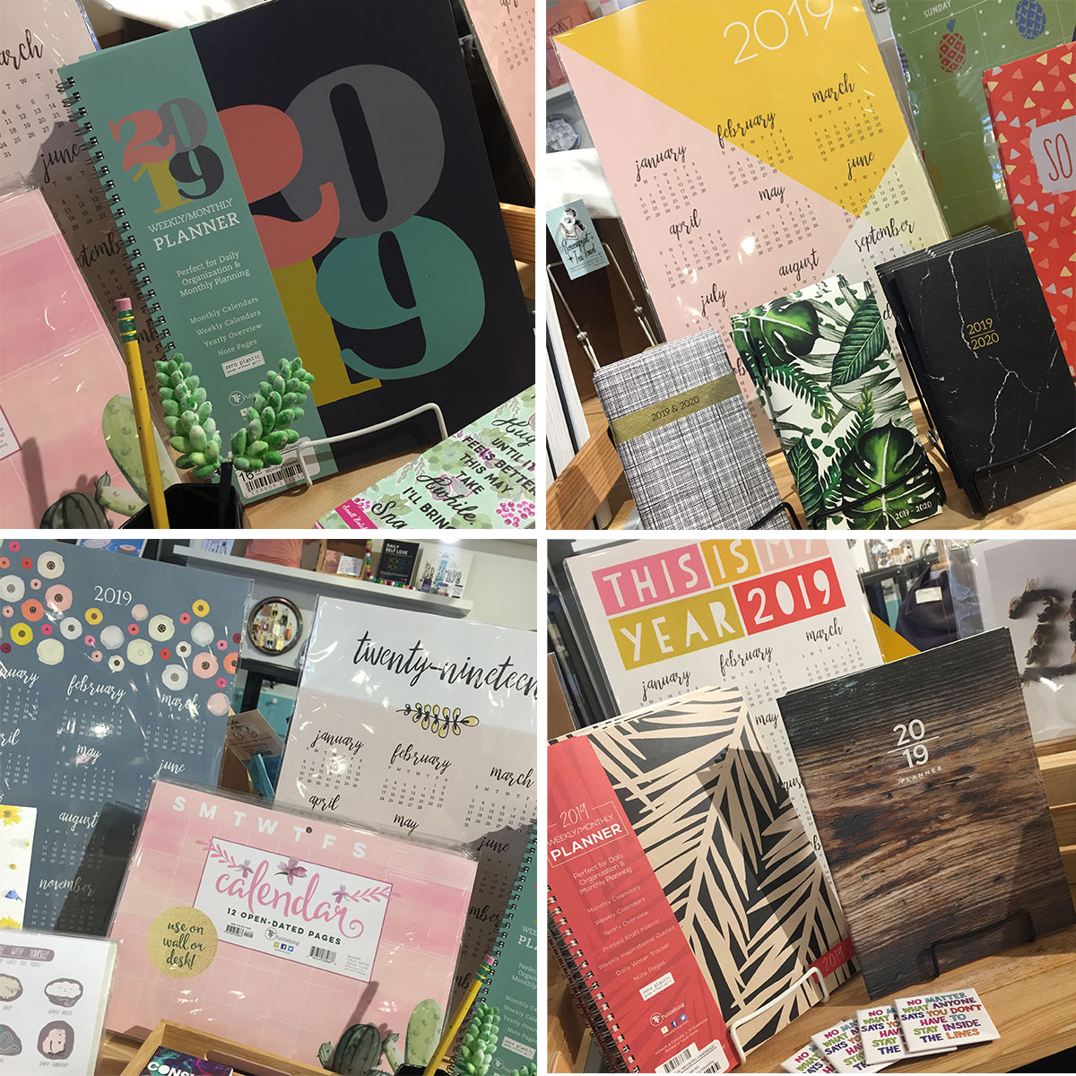 ICYMI January 11 2019 wall calendars and planners 20% off at Homespun: Modern Handmade