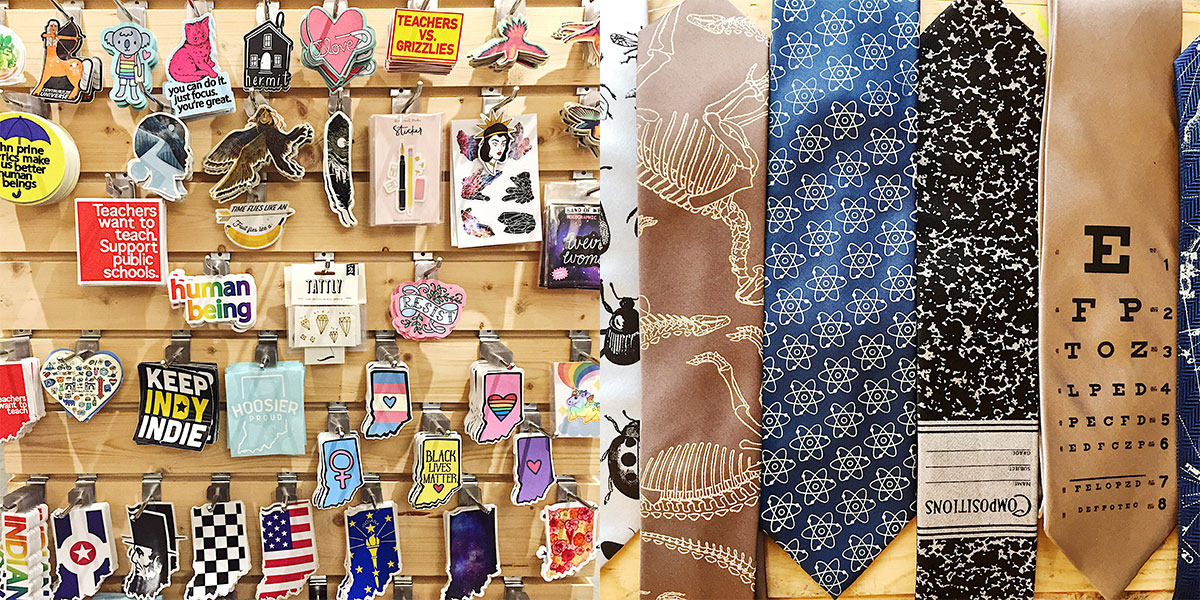 ICYMI January 11 stickers and ties at Homespun: Modern Handmade