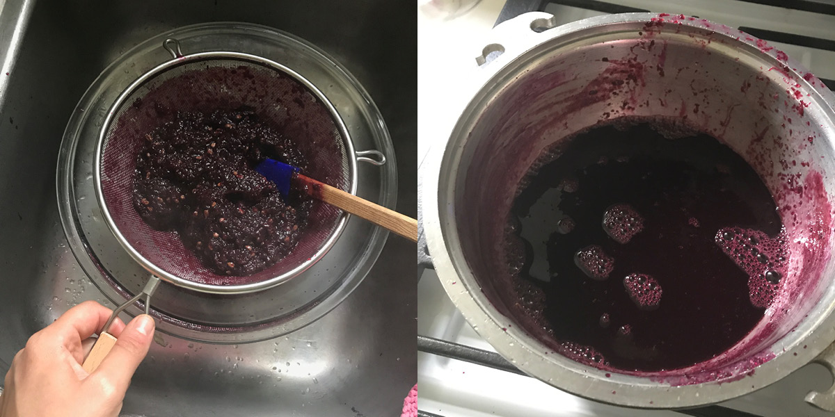 strain, purple, grape juice, concord grape jam