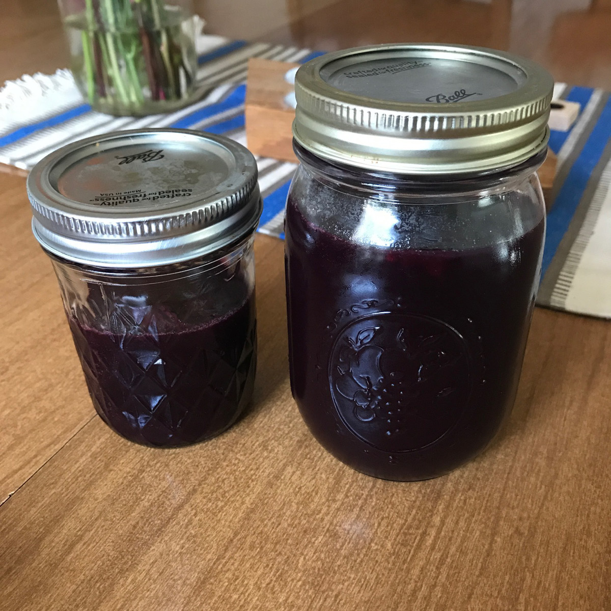 jars, jam, can, grape jam, concord grape jam, fall jam