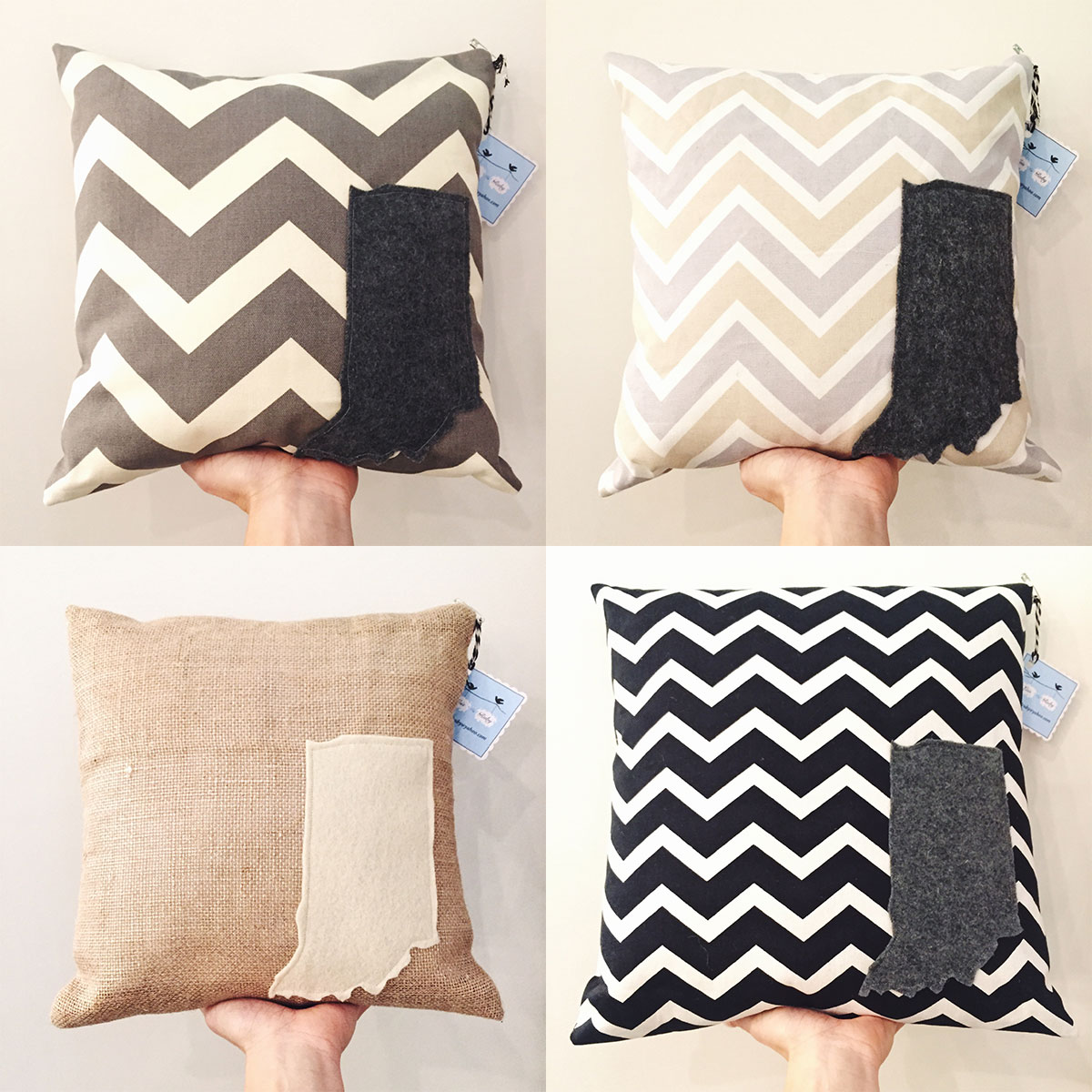 Indiana pillows at Homespun: Modern Handmade