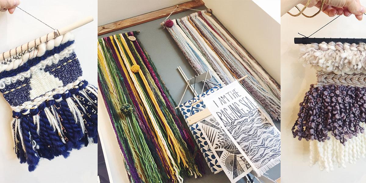 New wall hangings from Ribbon + Roving at Homespun: Modern Handmade