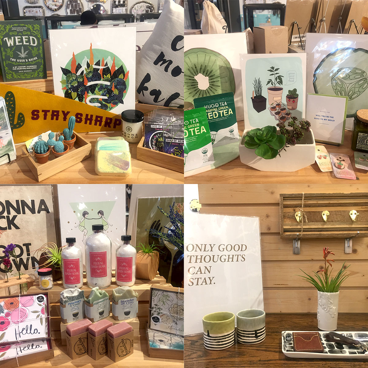From plant based candles, to ceramic planters, to herbal soaps and soaks, find some spring at Homespun: Modern Handmade.