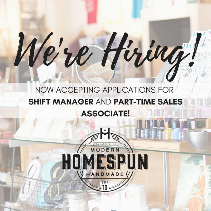 Homespun is hiring!