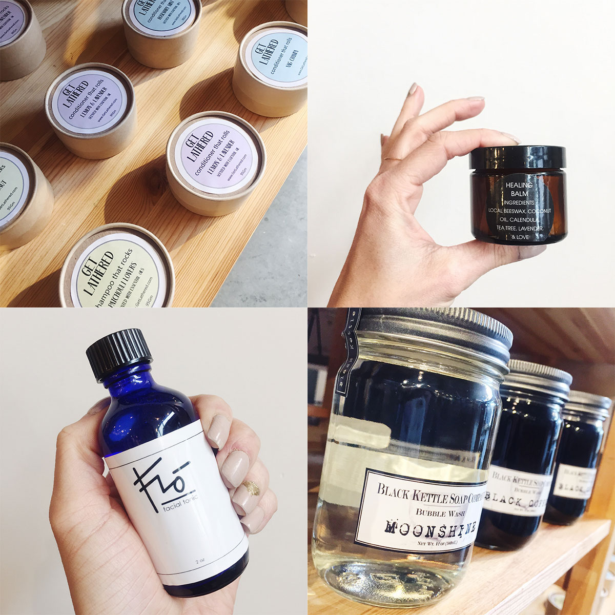 Natural and locally made bath and body products at Homespun: Modern Handmade