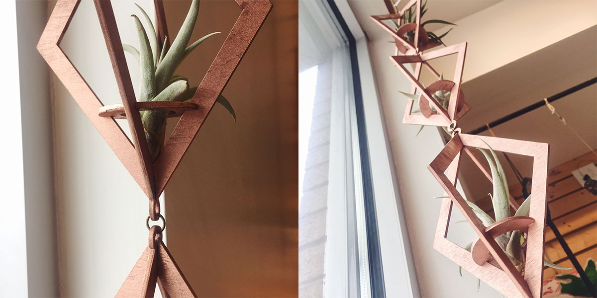 Air Plant holders at Homespun: Modern Handmade