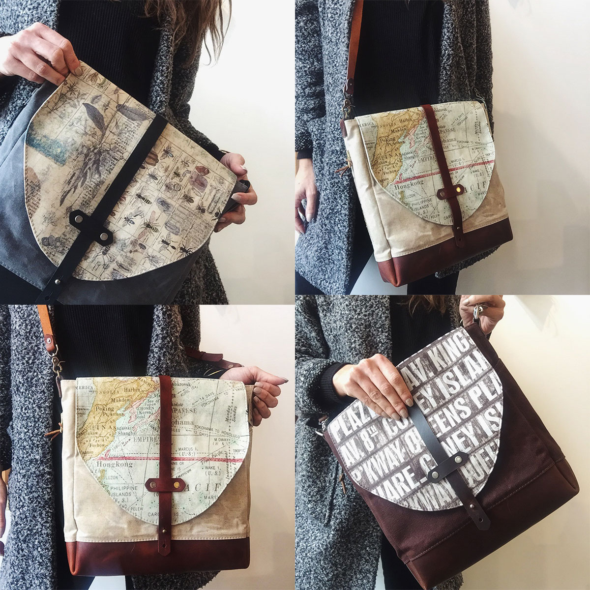 Tote bags from Two Belmont Sisters at Homespun: Modern Handmade