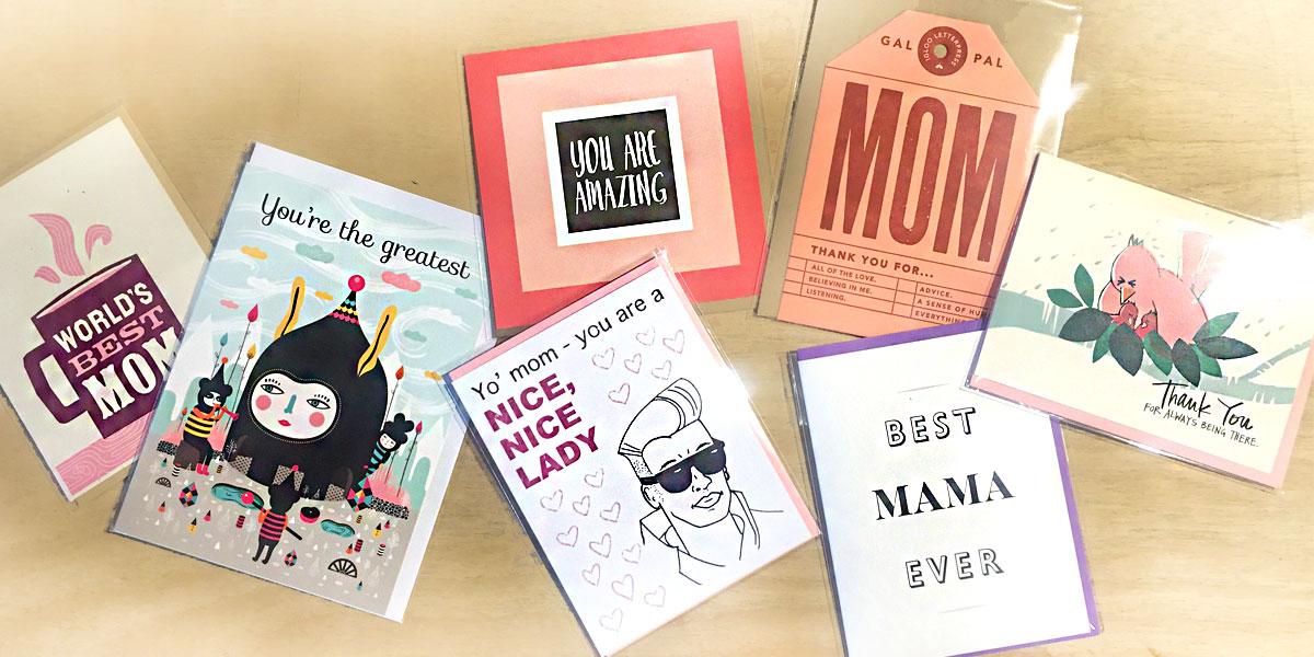 Mother's Day cards at Homespun: Modern Handmade