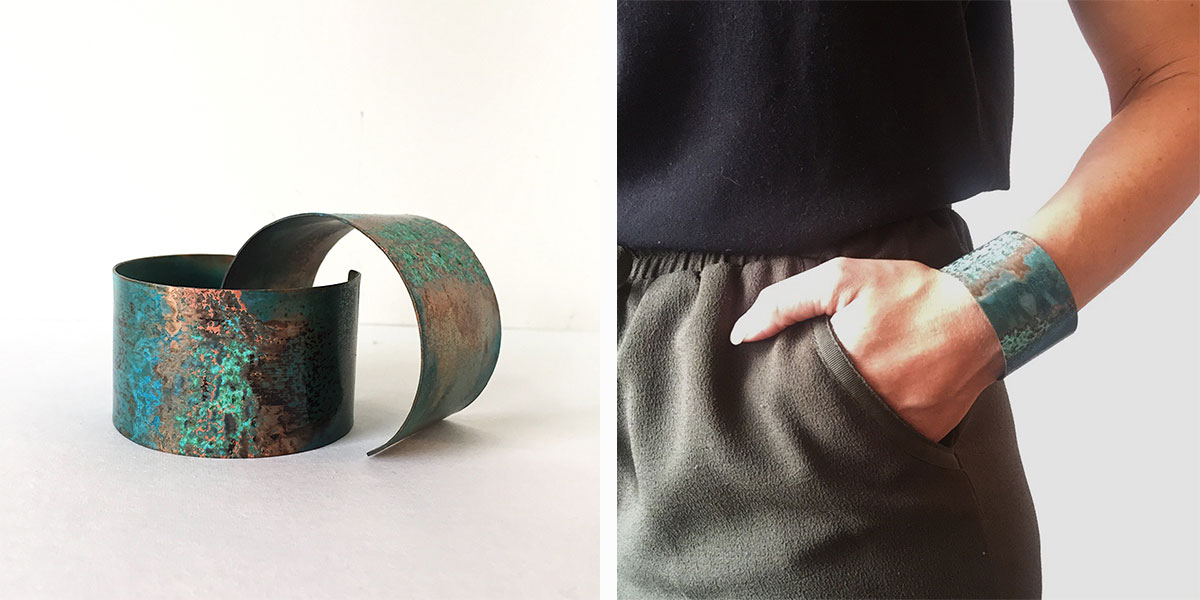 Redbud Jewelry Patina Cuffs at Homespun Modern Handmade