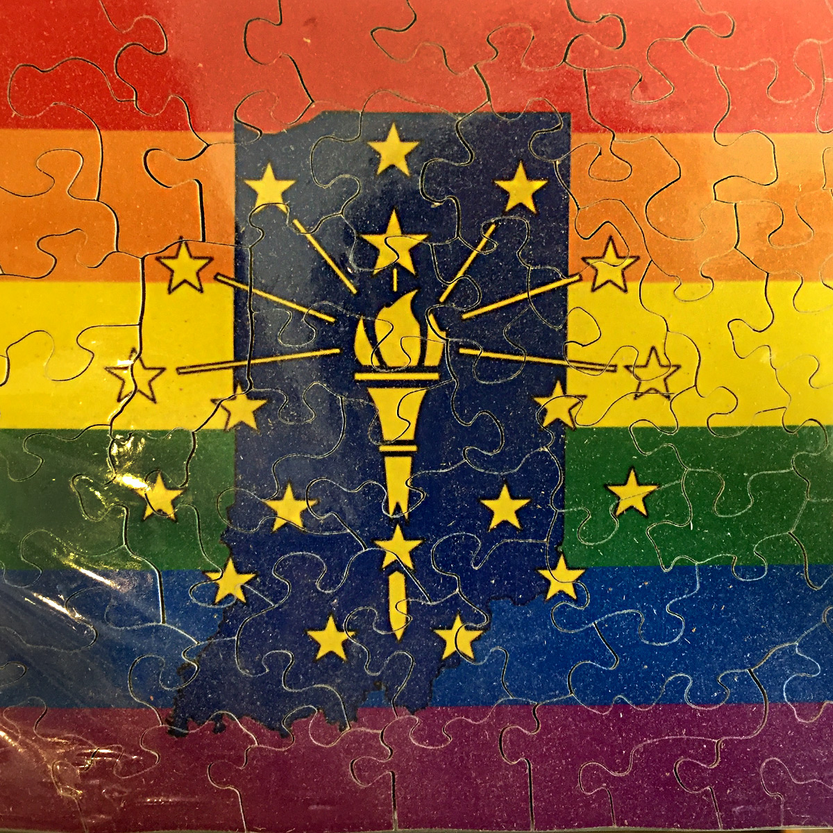ICYMI June 8 Indiana Pride Flag puzzle by Press Puzzles at Homespun