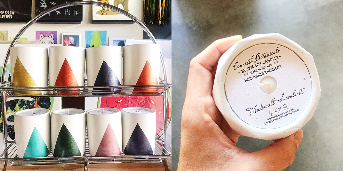 ICYMI June 22 JKM Soy Candles Concrete Botanicals at Homespun