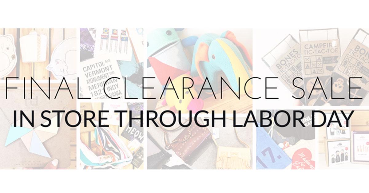 ICYMI August 24 Homespun Modern Handmade Final Clearance Sale