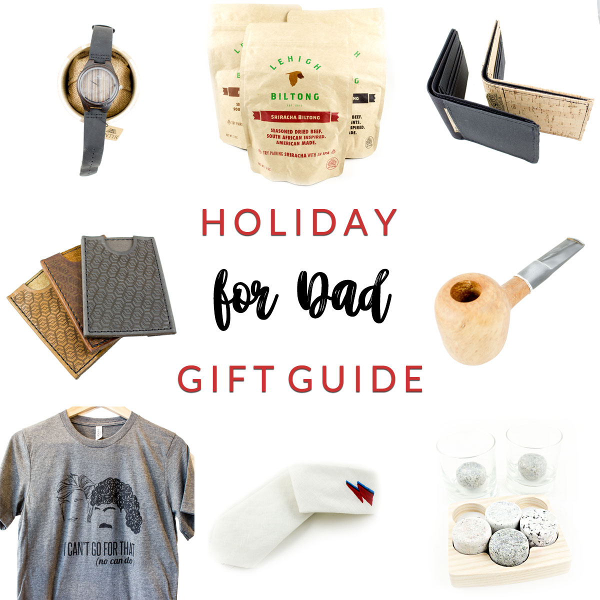 For Dady Holiday Gift Guide at Homespun Indianapolis