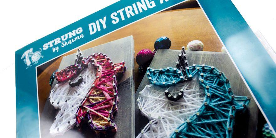 for kiddo holiday gift guide unicorn string art